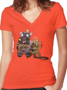 JunkRAT and RoadHOG Women's Fitted V-Neck T-Shirt
