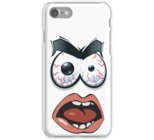 Confused face. iPhone Case/Skin