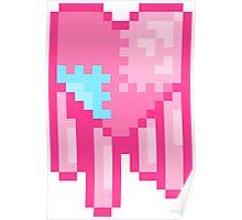 Dripping Pixel Heart  Poster