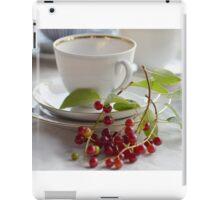 Still life with wild cherries iPad Case/Skin