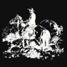 RIDE 'IM, HOSS THIEF! - White by perilpress