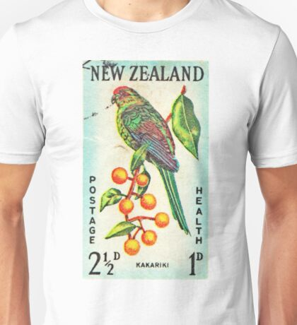 New Zealand Bird Print Unisex T-Shirt