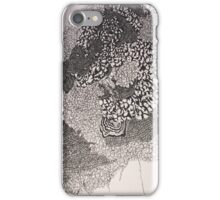 Growth Of Bacteria, Ink Drawing iPhone Case/Skin