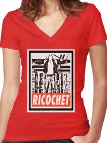 Ricochet Women's Fitted V-Neck T-Shirt