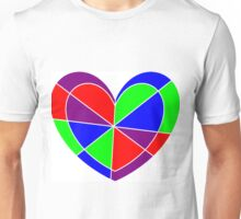 stained glass heart Unisex T-Shirt