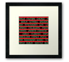 Check Your Flight No. 2 - Red/Black Digital  Framed Print