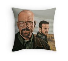 Breaking Bad painting Throw Pillow