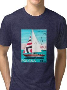 Polska Sailing Print Tri-blend T-Shirt