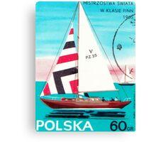 Polska Sailing Print Canvas Print