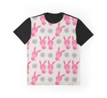 Pink Bunny Love Hearts Graphic T-Shirt