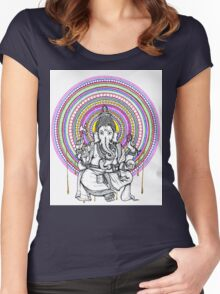 Lord Ganesh Mandala Women's Fitted Scoop T-Shirt