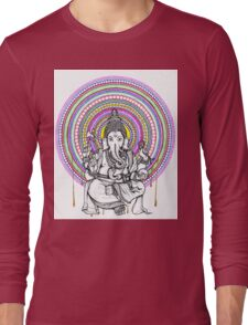 Lord Ganesh Mandala Long Sleeve T-Shirt