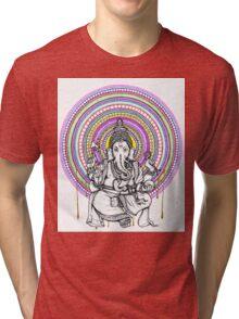 Lord Ganesh Mandala Tri-blend T-Shirt