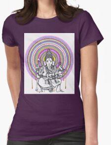 Lord Ganesh Mandala Womens Fitted T-Shirt