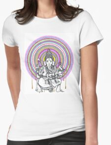 Lord Ganesh Mandala Womens Fitted T-Shirt