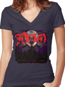 Dio- stronger than ever Women's Fitted V-Neck T-Shirt