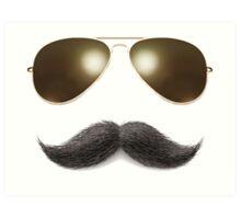 Easy Mustache Rider Art Print