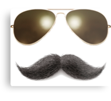 Easy Mustache Rider Metal Print