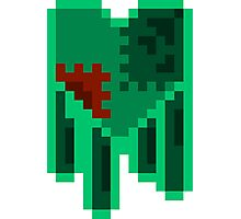 Green Dripping Pixel Heart Photographic Print