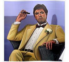 Al Pacino painting Poster