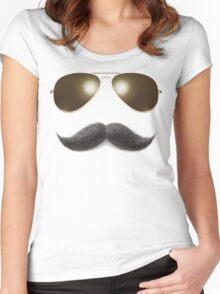 Easy Mustache Rider Women's Fitted Scoop T-Shirt