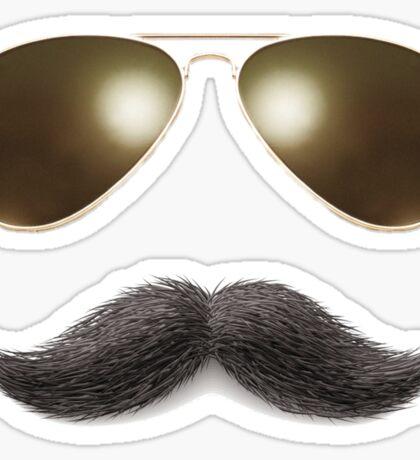 Easy Mustache Rider Sticker