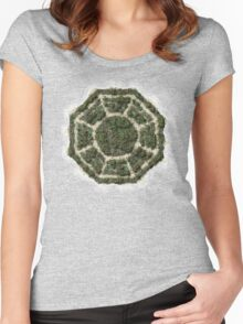 dharma island Women's Fitted Scoop T-Shirt