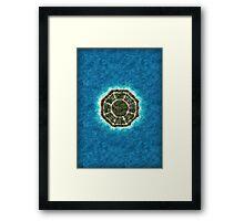 dharma island Framed Print