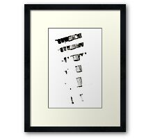 Running out of words Framed Print