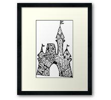 Castle Doodle Framed Print