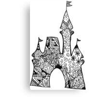 Castle Doodle Canvas Print