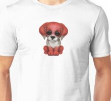 Cute Patriotic Austrian Flag Puppy Dog Unisex T-Shirt
