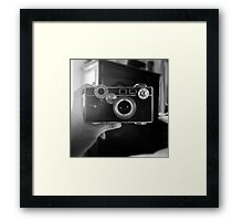 Camera Selfie Framed Print