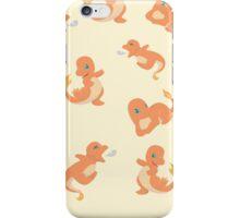 Playful charmander Pattern iPhone Case/Skin