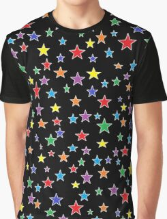 Rainbow Starry Starry Night  Graphic T-Shirt