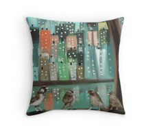 City Birds Throw Pillow