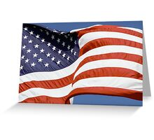 Old Glory Waves Greeting Card