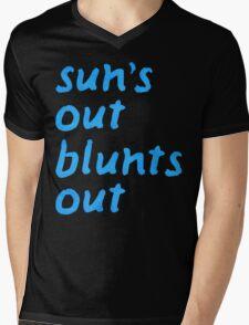 sun's out blunts out Mens V-Neck T-Shirt