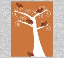 Five Thanksgiving Turkeys in a Tree One Piece - Short Sleeve