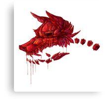 Blood Crystal Werewolf Skull - White BG Canvas Print