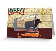 Steer Beer Greeting Card