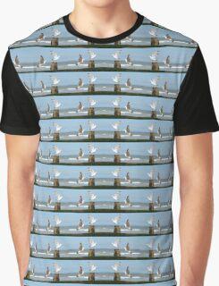 Seaside Seagulls into Summer Flight Graphic T-Shirt