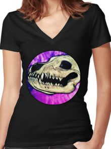 What Big Teeth You Have Women's Fitted V-Neck T-Shirt