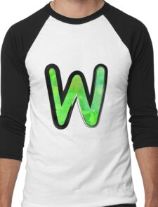 Watercolor - W - green Men's Baseball ¾ T-Shirt