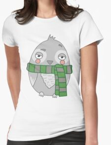 Wizard Owl - Green Womens Fitted T-Shirt