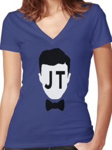 JT 2 Women's Fitted V-Neck T-Shirt