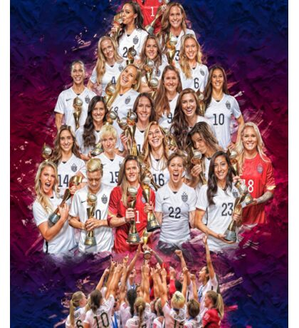 USWNT 1 Year World Cup Champs! Sticker