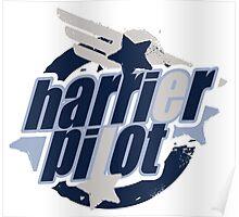 Harrier Pilot Poster