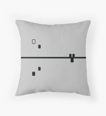 Block Confusion Ash Throw Pillow