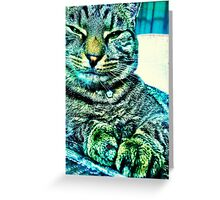 Green Eyed Monster Greeting Card